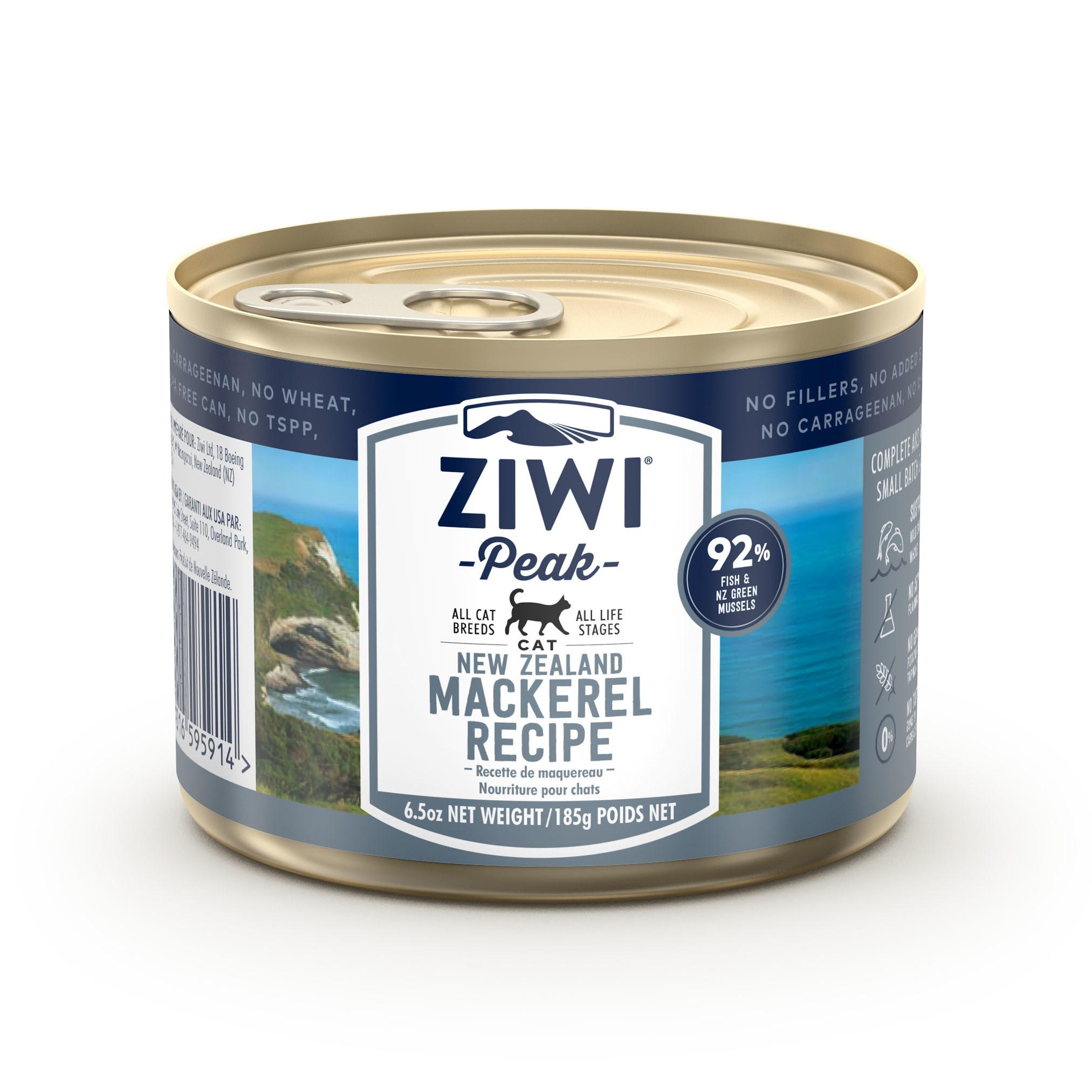 ZIWI Peak Canned Cat Food Mackerel Recipe, 6.5-oz|185-g