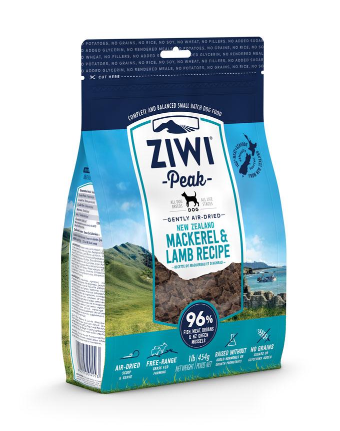 ZIWI Peak Air-Dried Dog Food Mackerel & Lamb Recipe, 16-oz|454-g