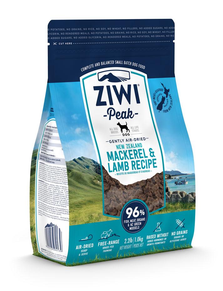 ZIWI Peak Air-Dried Dog Food Mackerel & Lamb Recipe, 2.2-lb|1-kg