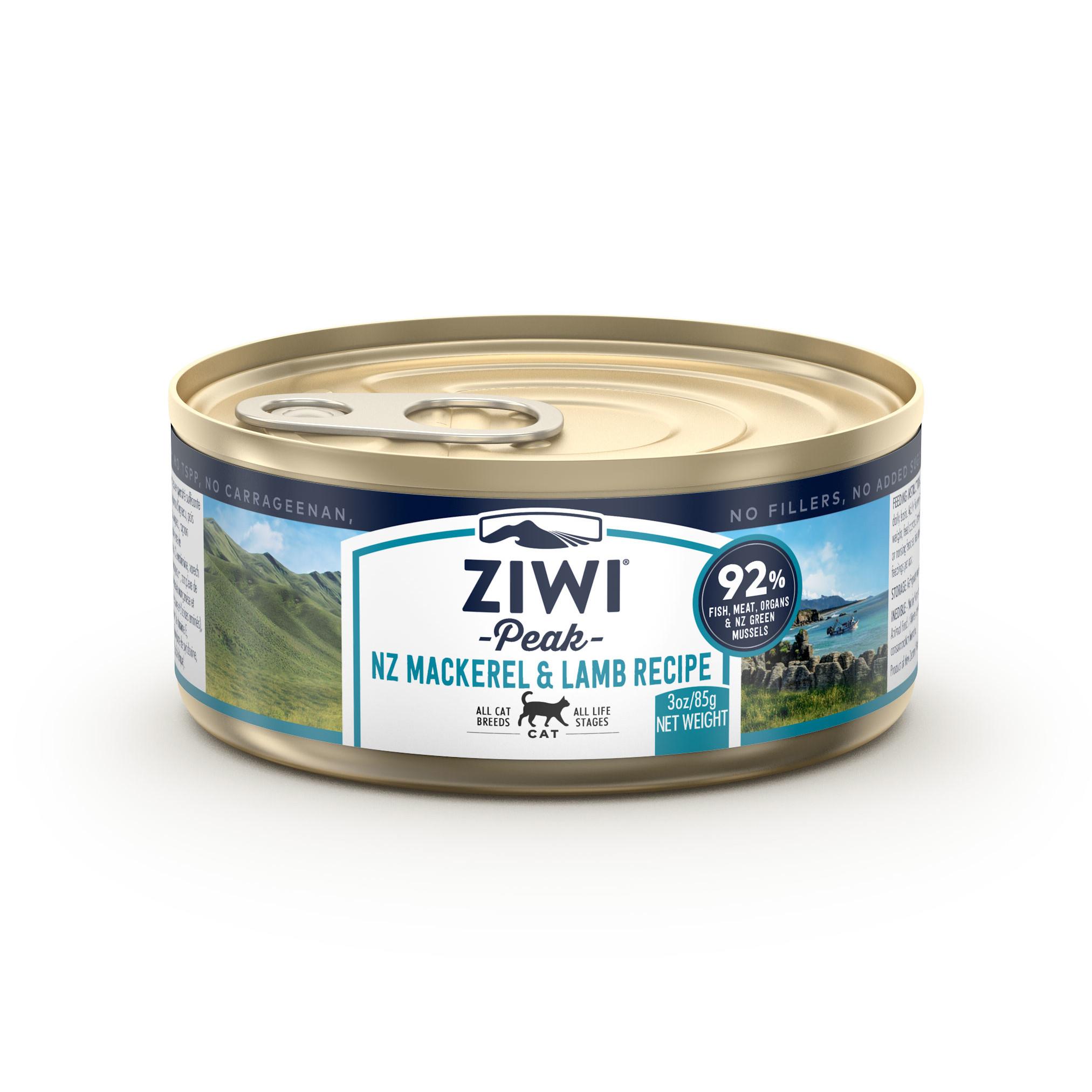 ZIWI Peak Canned Cat Food Mackerel & Lamb Recipe, 3-oz|85.2-g