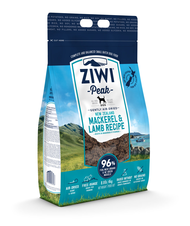 ZIWI Peak Air-Dried Dog Food Mackerel & Lamb Recipe, 8.8-lb