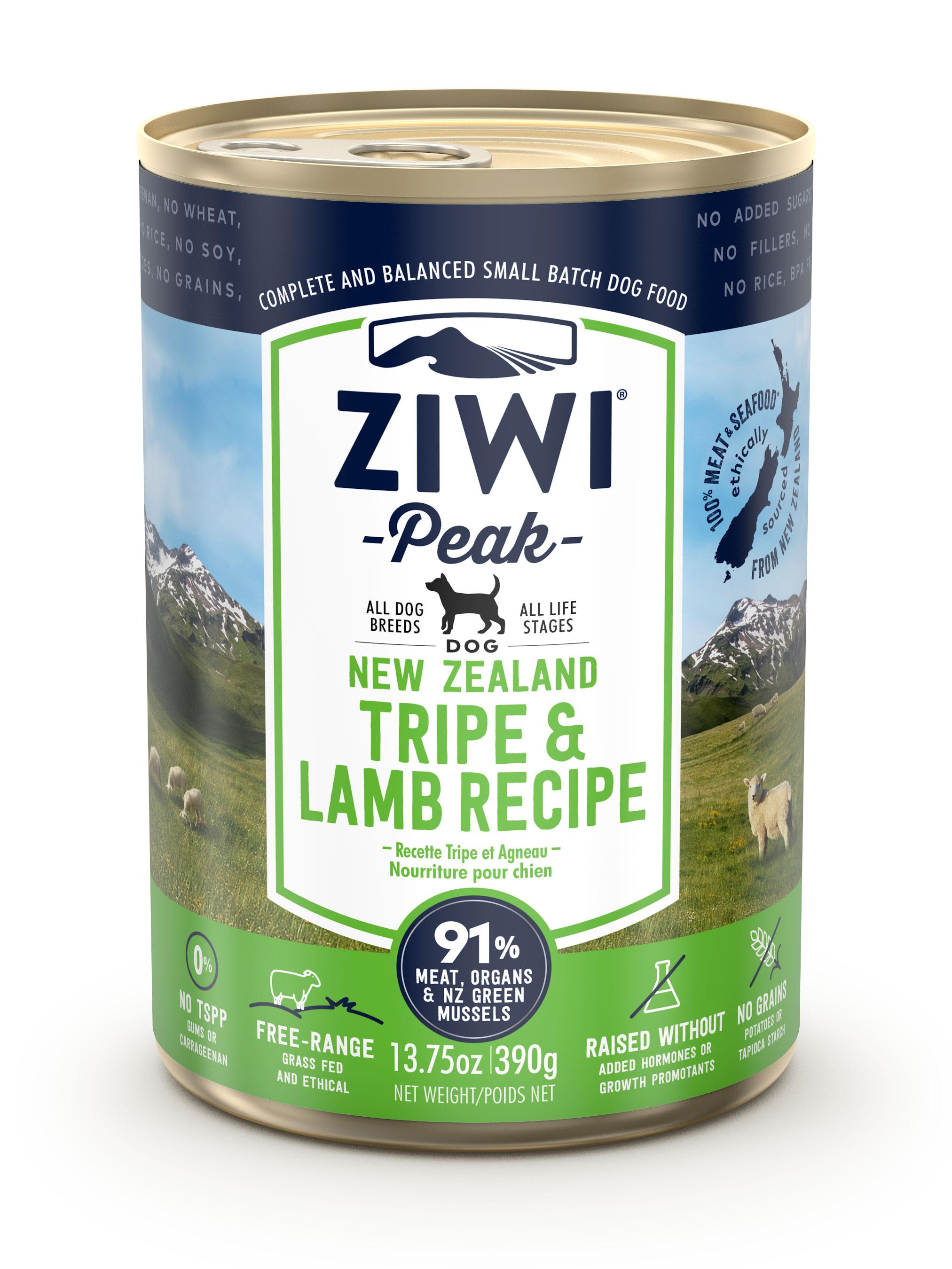 ZIWI Peak Canned Dog Food Tripe & Lamb, 13.75-oz 390-g (case of 12)