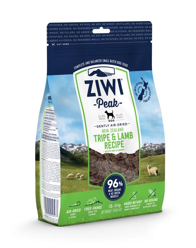 ZIWI Peak Air-Dried Dog Food Tripe & Lamb Recipe, 16-oz|454-g