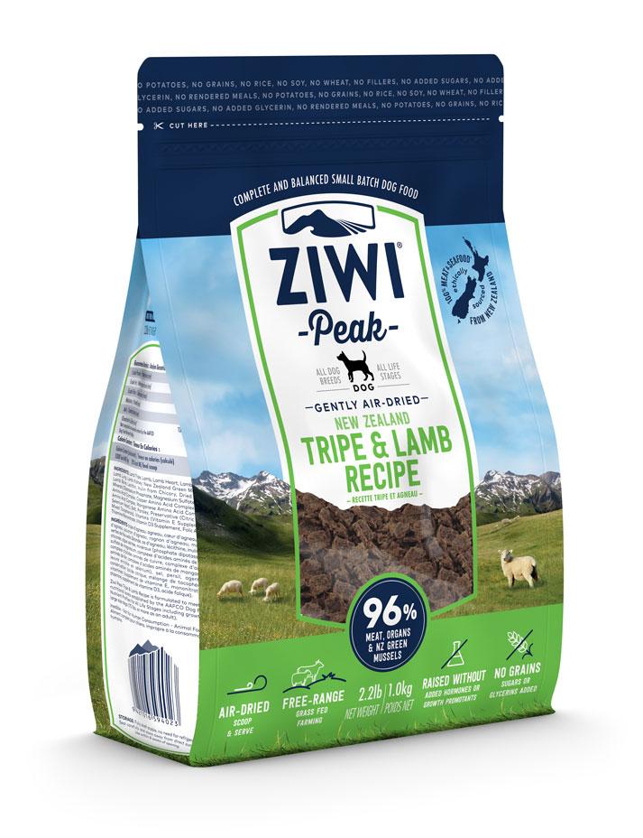 ZIWI Peak Air-Dried Dog Food Tripe & Lamb Recipe, 2.2-lb