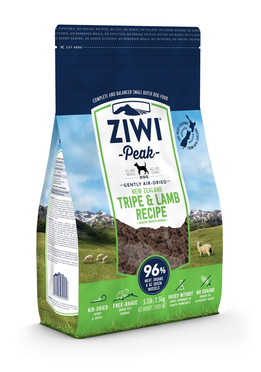 ZIWI Peak Air-Dried Dog Food Tripe & Lamb Recipe, 5.5-lb