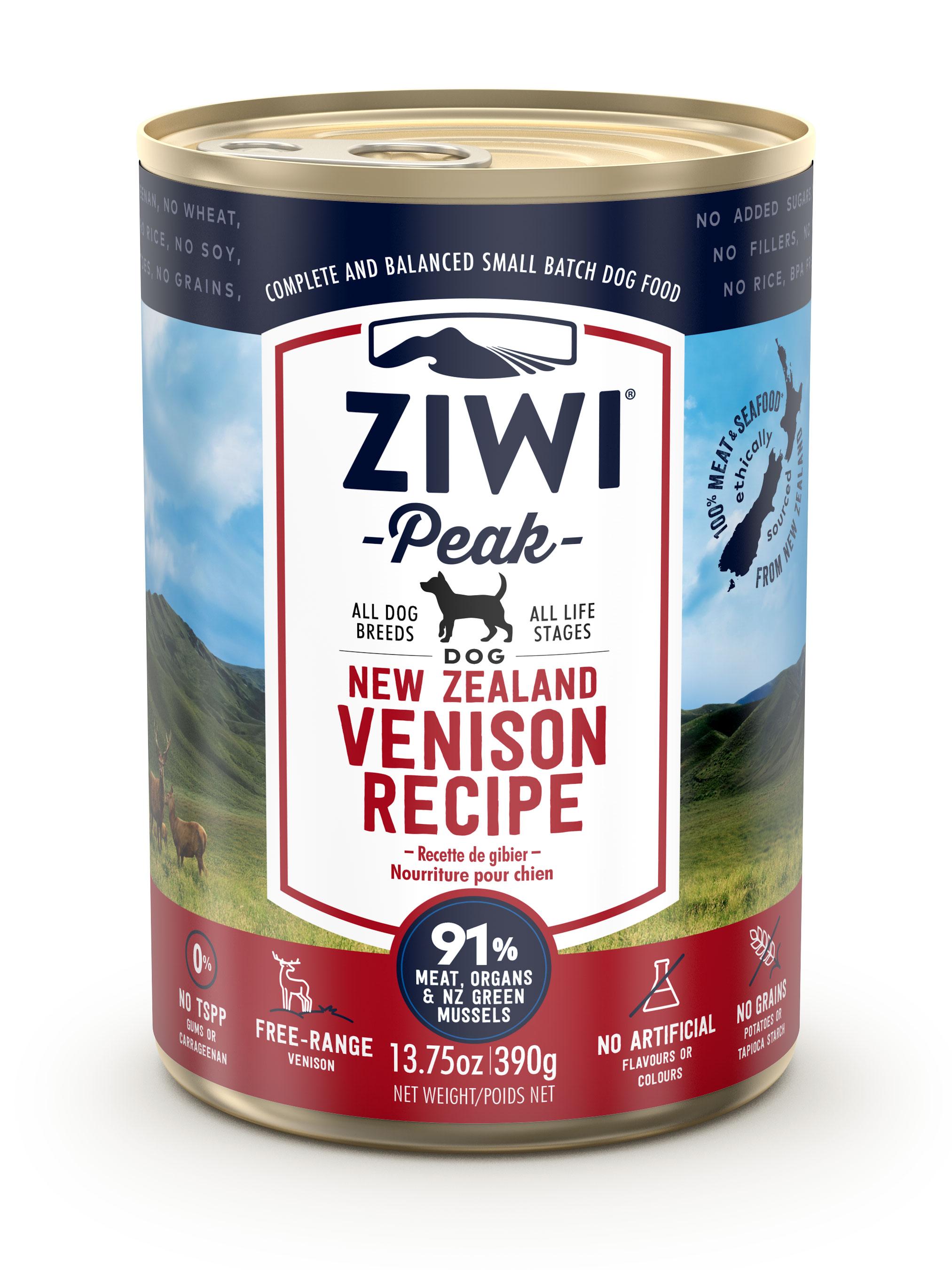ZIWI Peak Canned Dog Food Venison Recipe, 13.75-oz 390-g (case of 12)