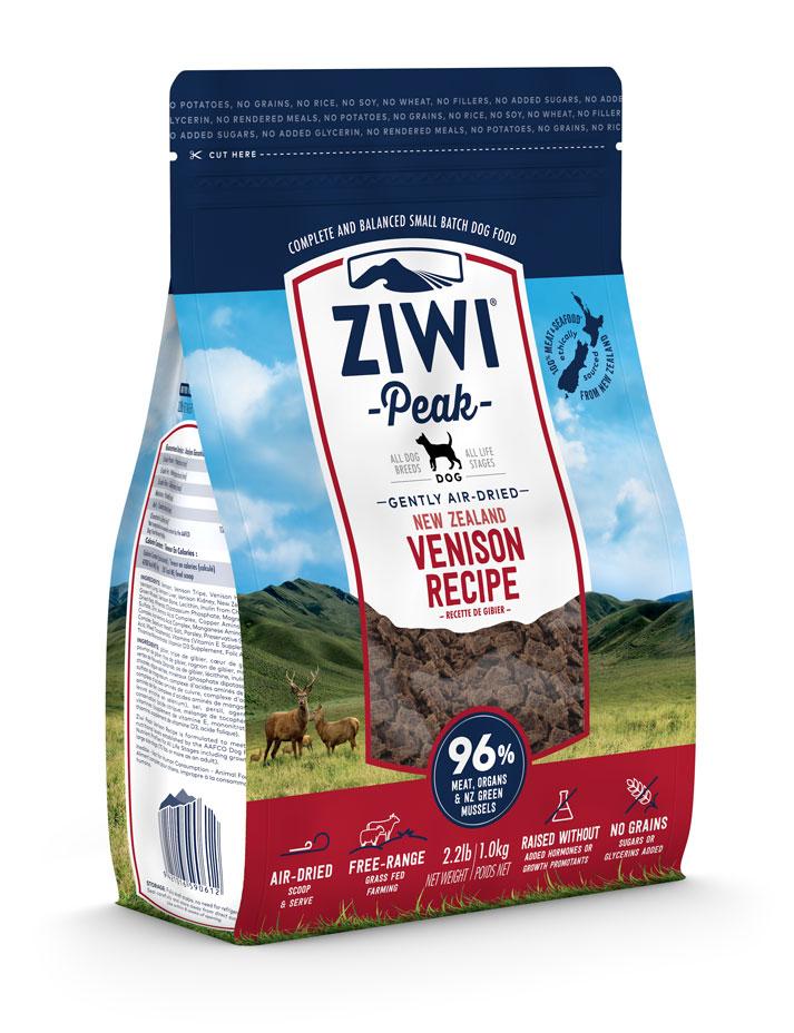 ZIWI Peak Air-Dried Dog Food Venison Recipe, 2.2-lb