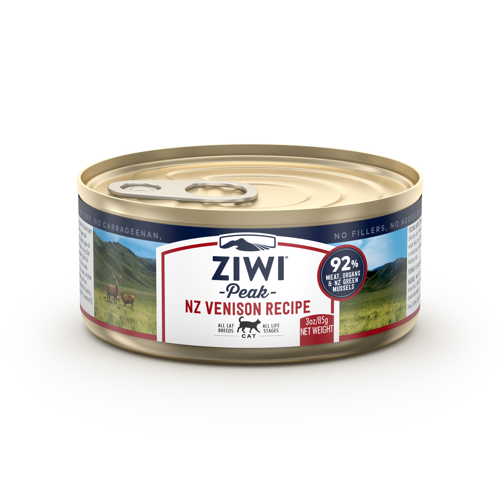 ZIWI Peak Canned Cat Food Venison Recipe, 3-oz, case of 24