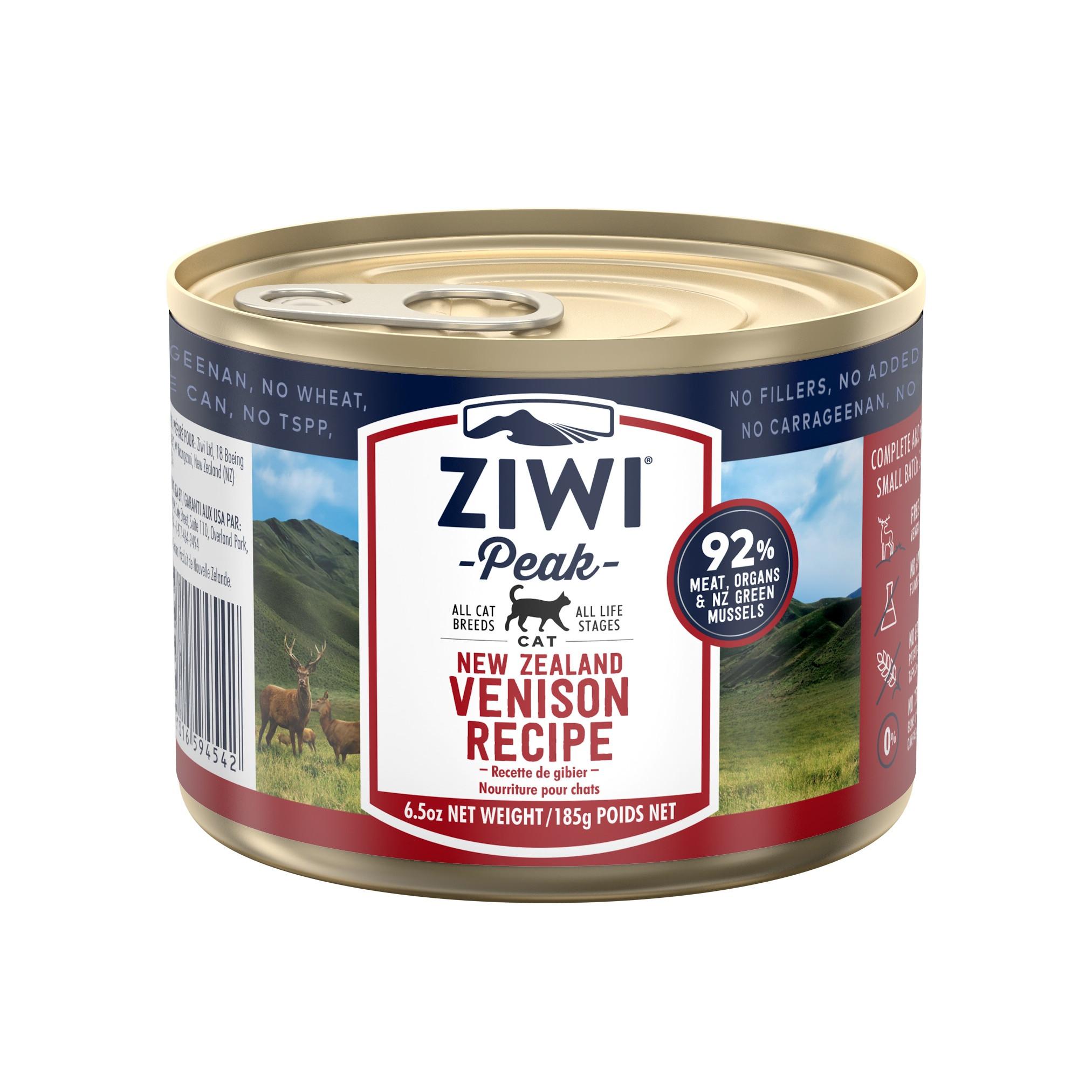 ZIWI Peak Canned Cat Food Venison Recipe, 6.5-oz 185-g