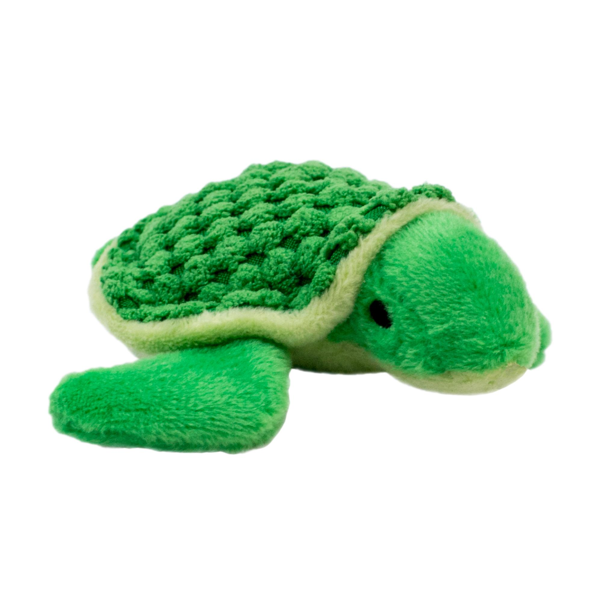 Tall Tails Baby Turtle with Squeaker Plush Dog Toy, 4-in