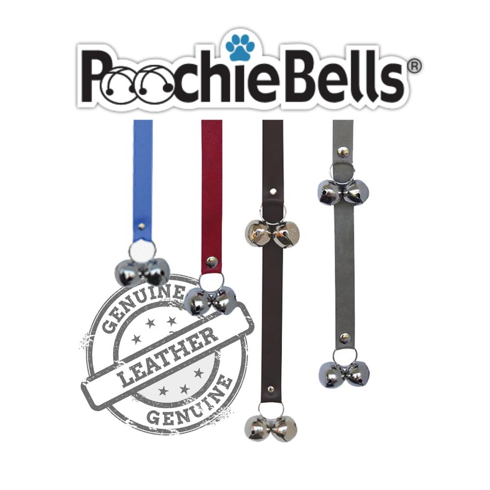 Poochie-Pets PoochieBells Premium Leather Dog Potty Doorbell