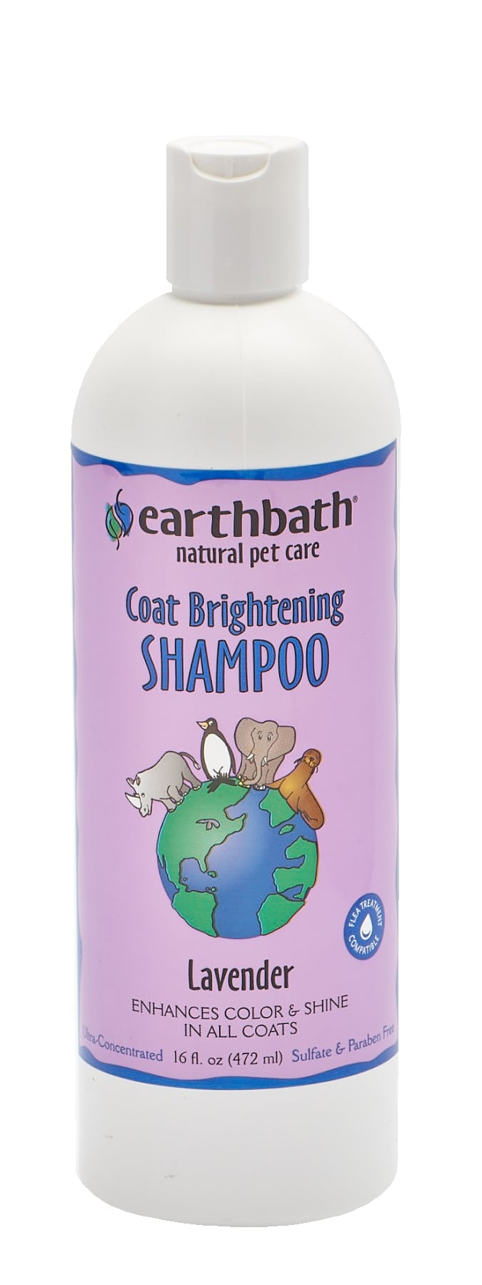 Earthbath Coat Brightening Shampoo for Dogs & Cats, Lavender, 16-oz Image