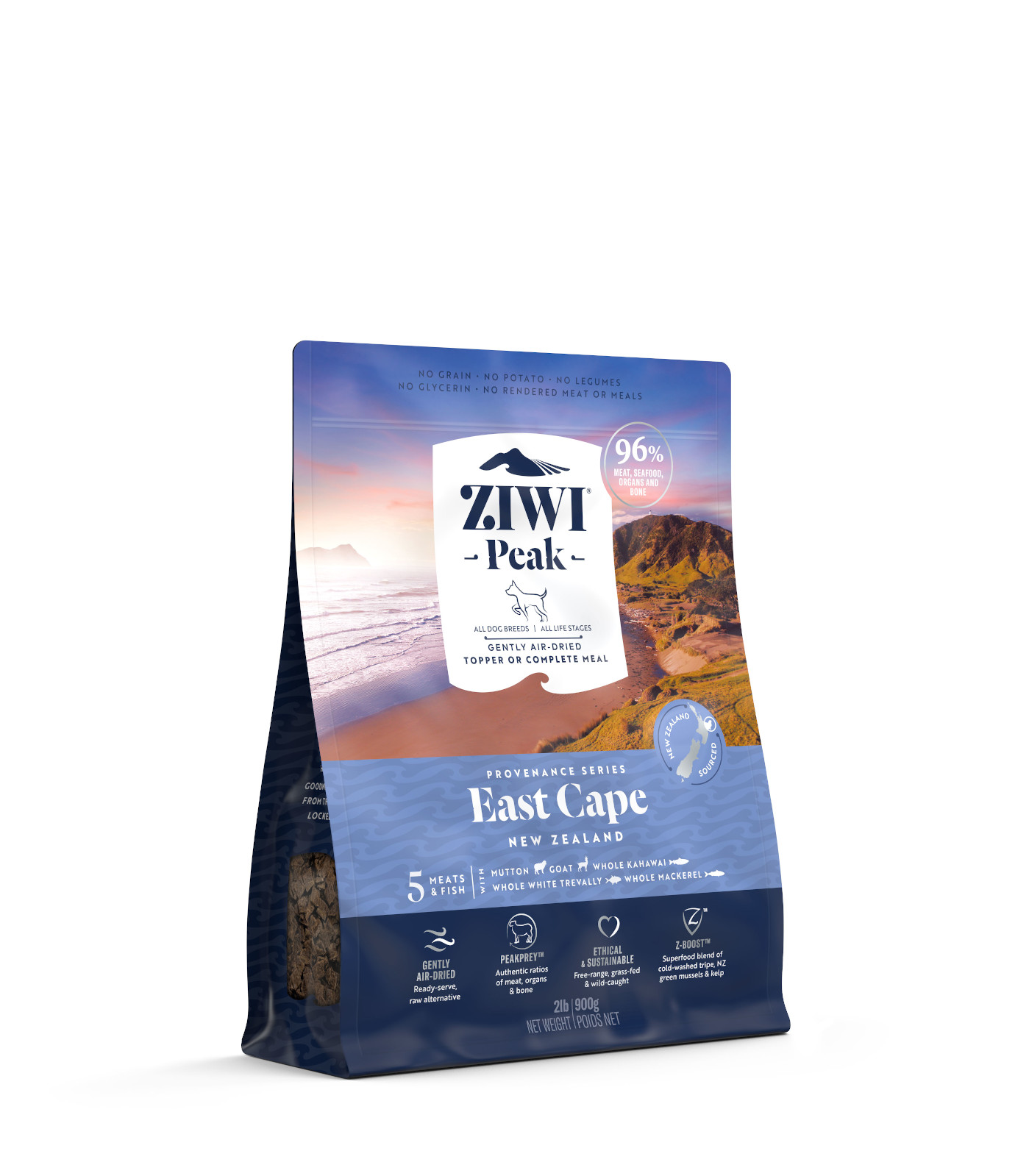 ZIWI Peak Provenance Air-Dried Dog Food East Cape Recipe, 2-lb