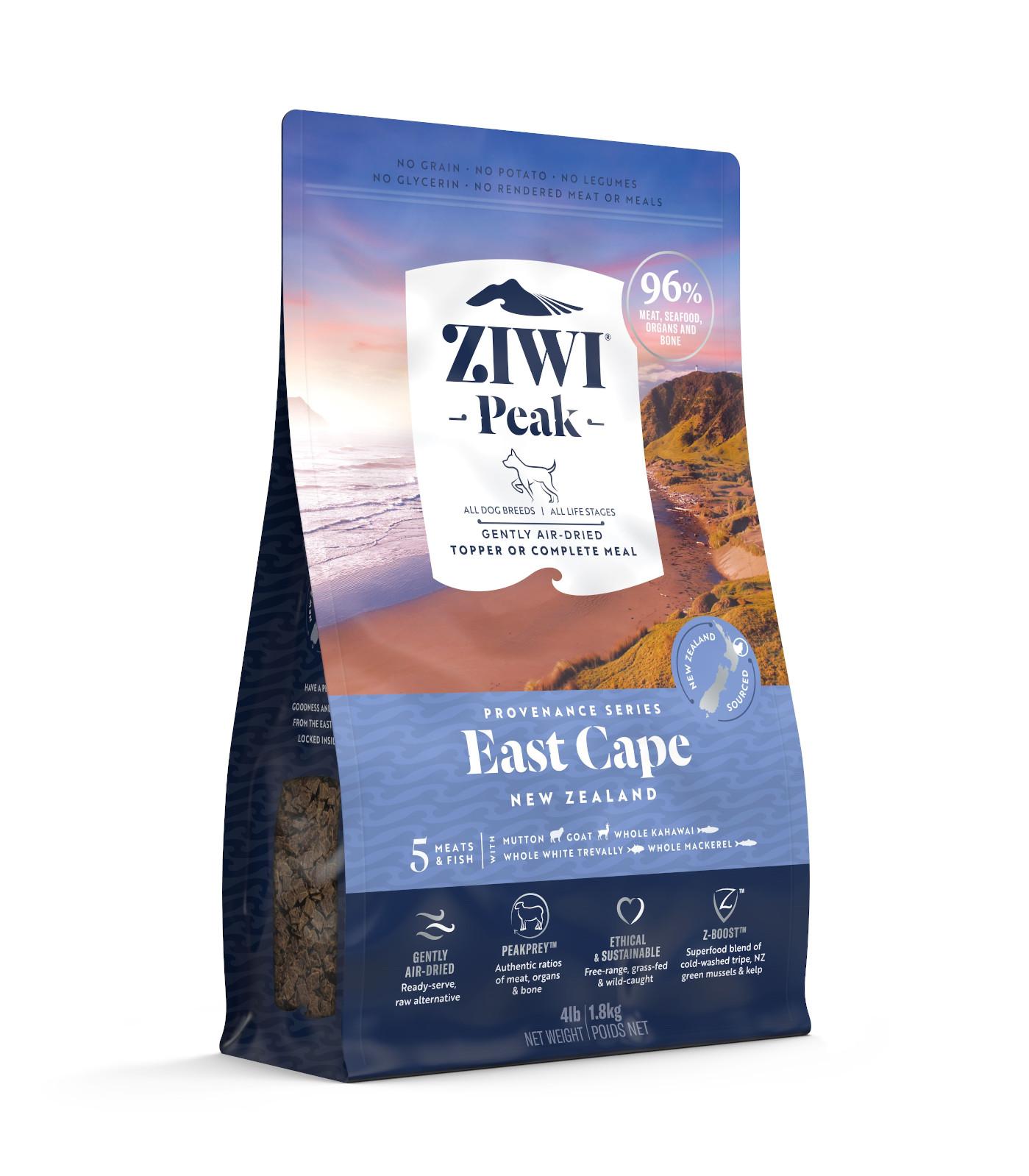 ZIWI Peak Provenance Air-Dried Dog Food East Cape Recipe, 4-lb