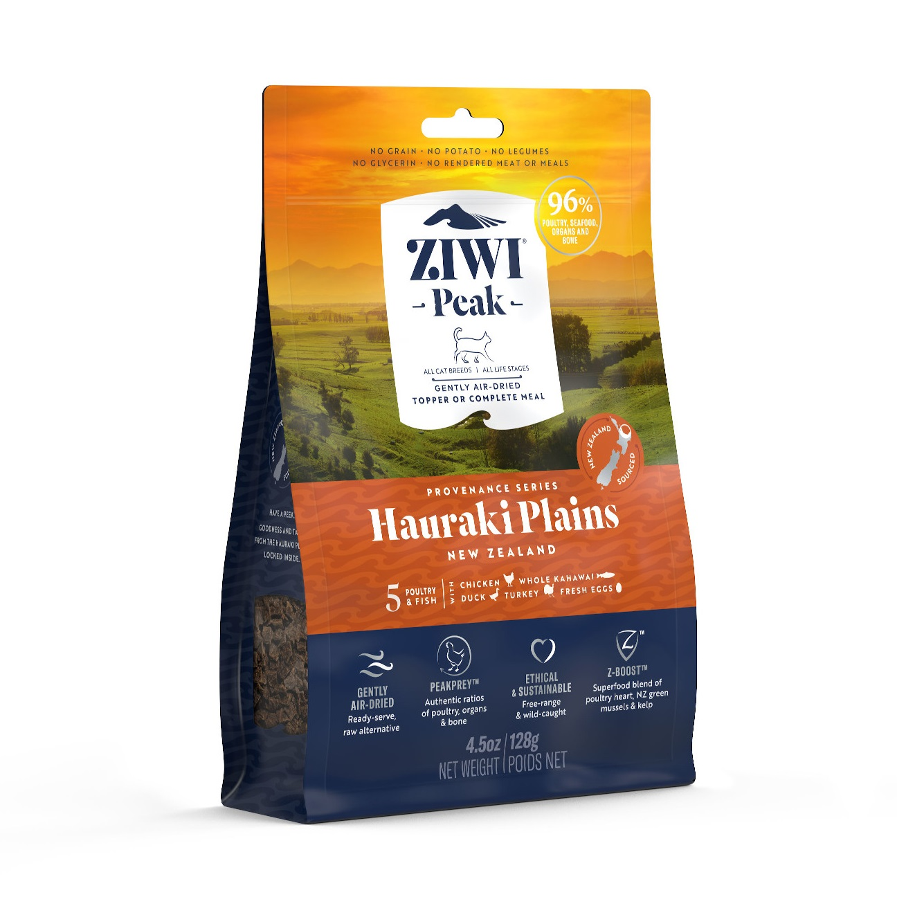 ZIWI Peak Provenance Air-Dried Cat Food Hauraki Plains Recipe, 4.5-oz