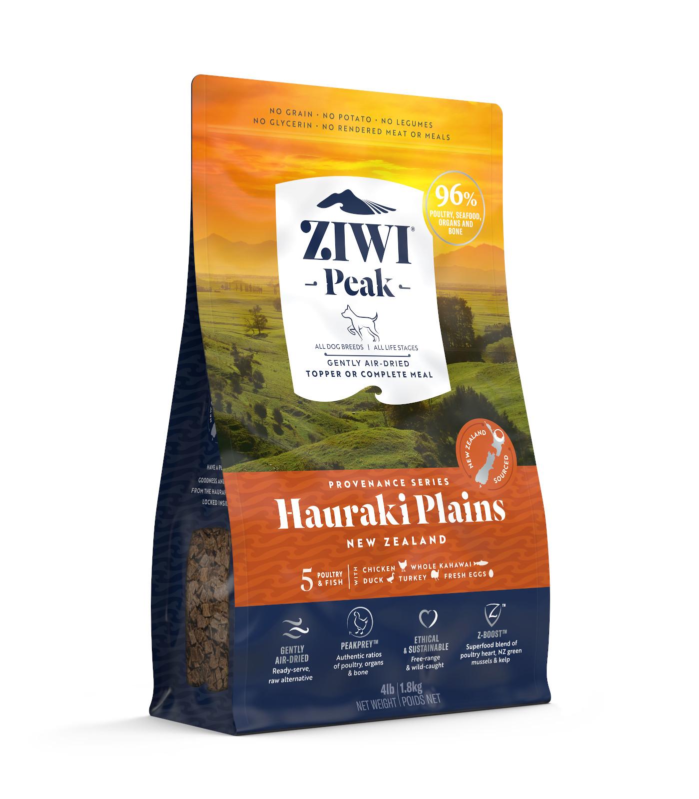 ZIWI Peak Provenance Air-Dried Dog Food Hauraki Plains Recipe, 4-lb 1.8-kg