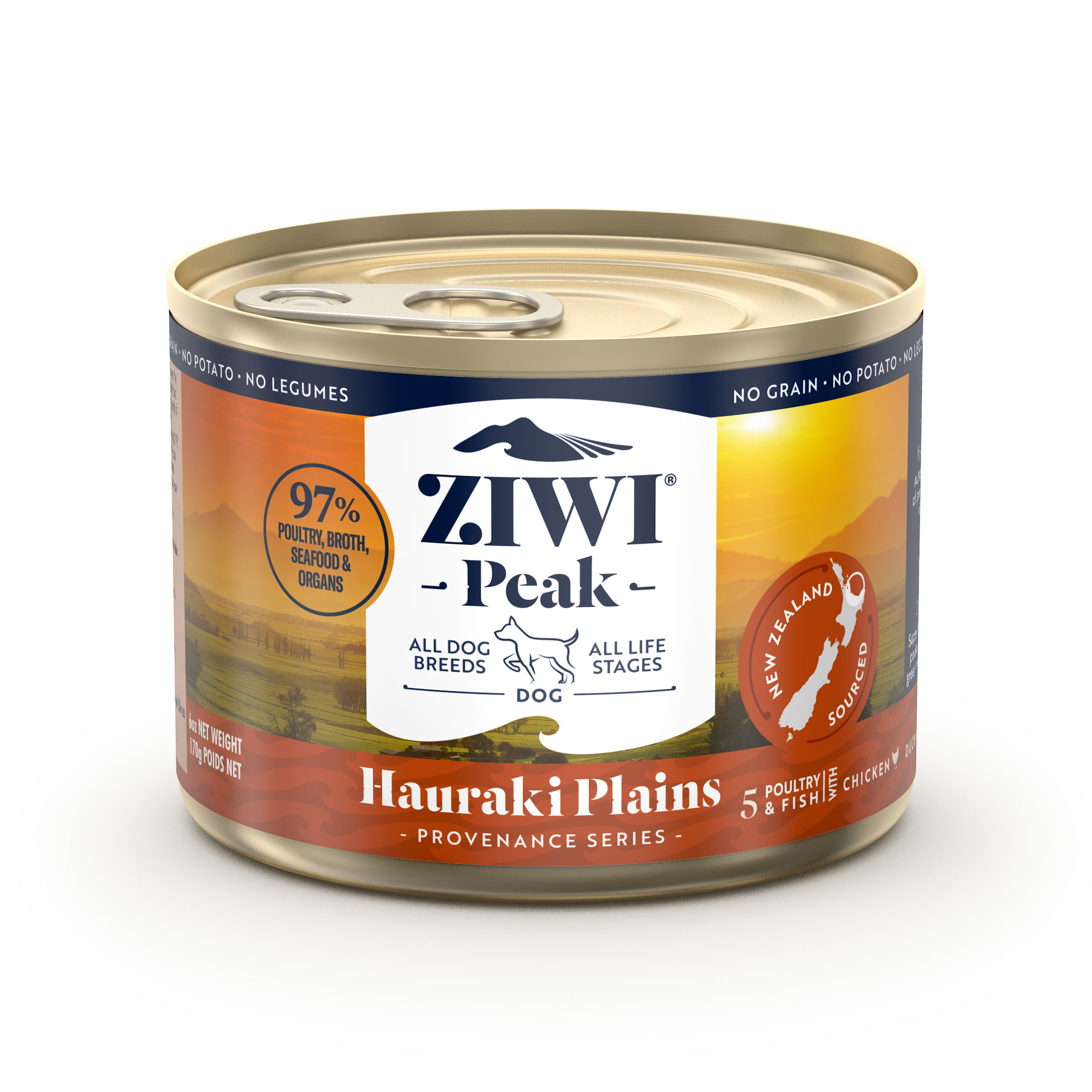ZIWI Peak Provenance Canned Dog Food Hauraki Plains Recipe, 6-oz|170-g