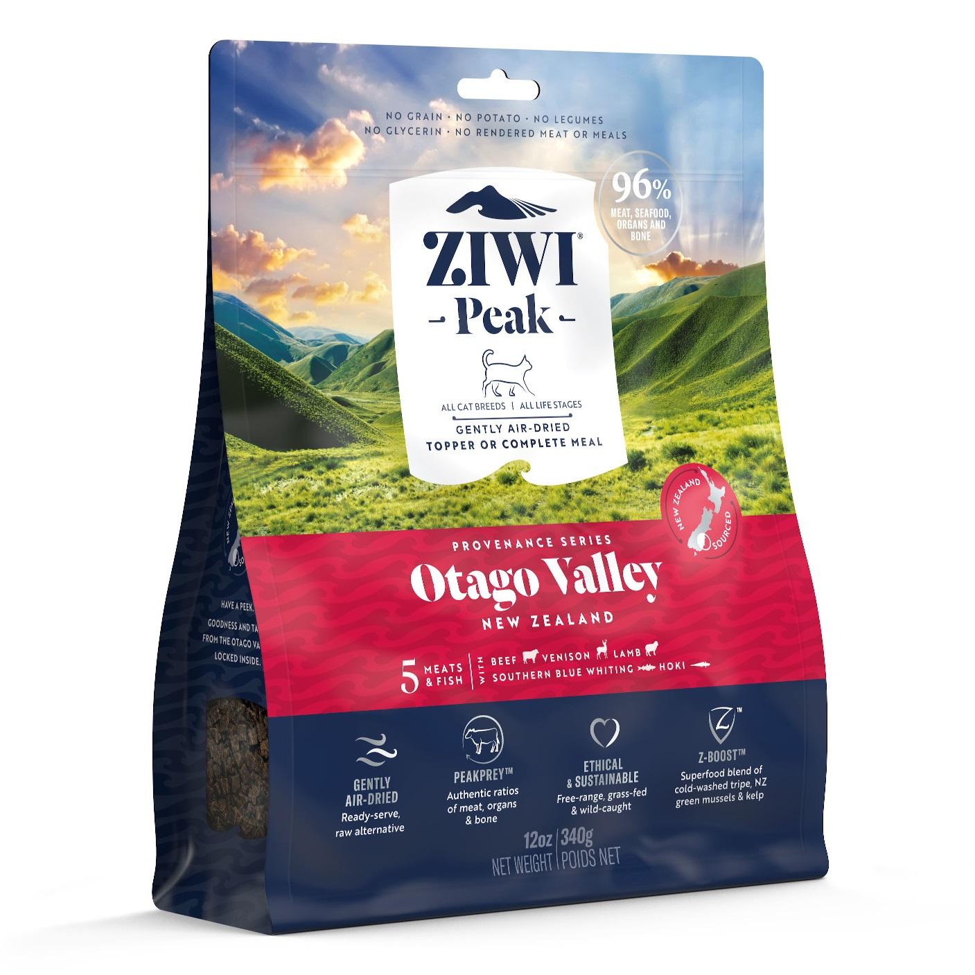 ZIWI Peak Provenance Air-Dried Cat Food Otago Valley Recipe, 12-oz