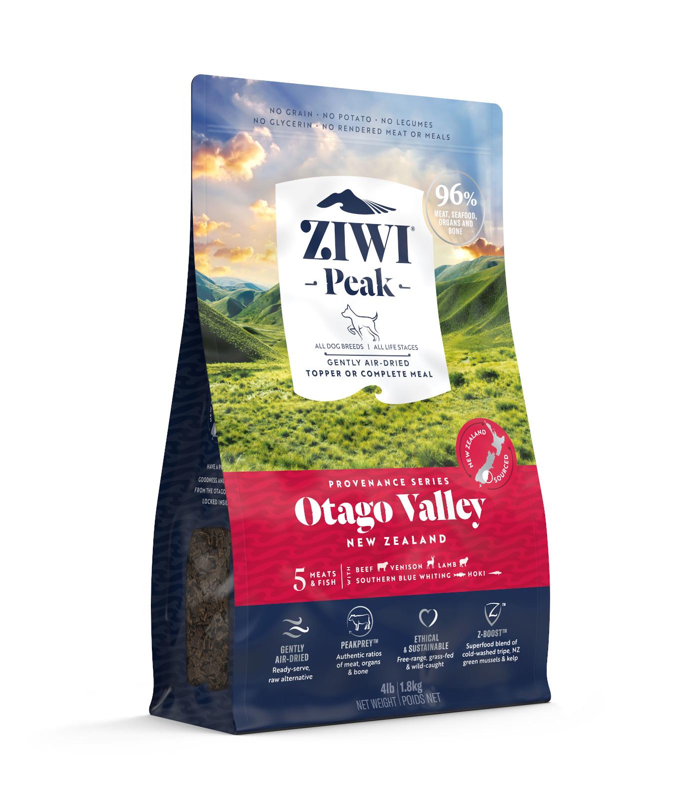 ZIWI Peak Provenance Air-Dried Dog Food Otago Valley Recipe, 4-lb|1.8-kg