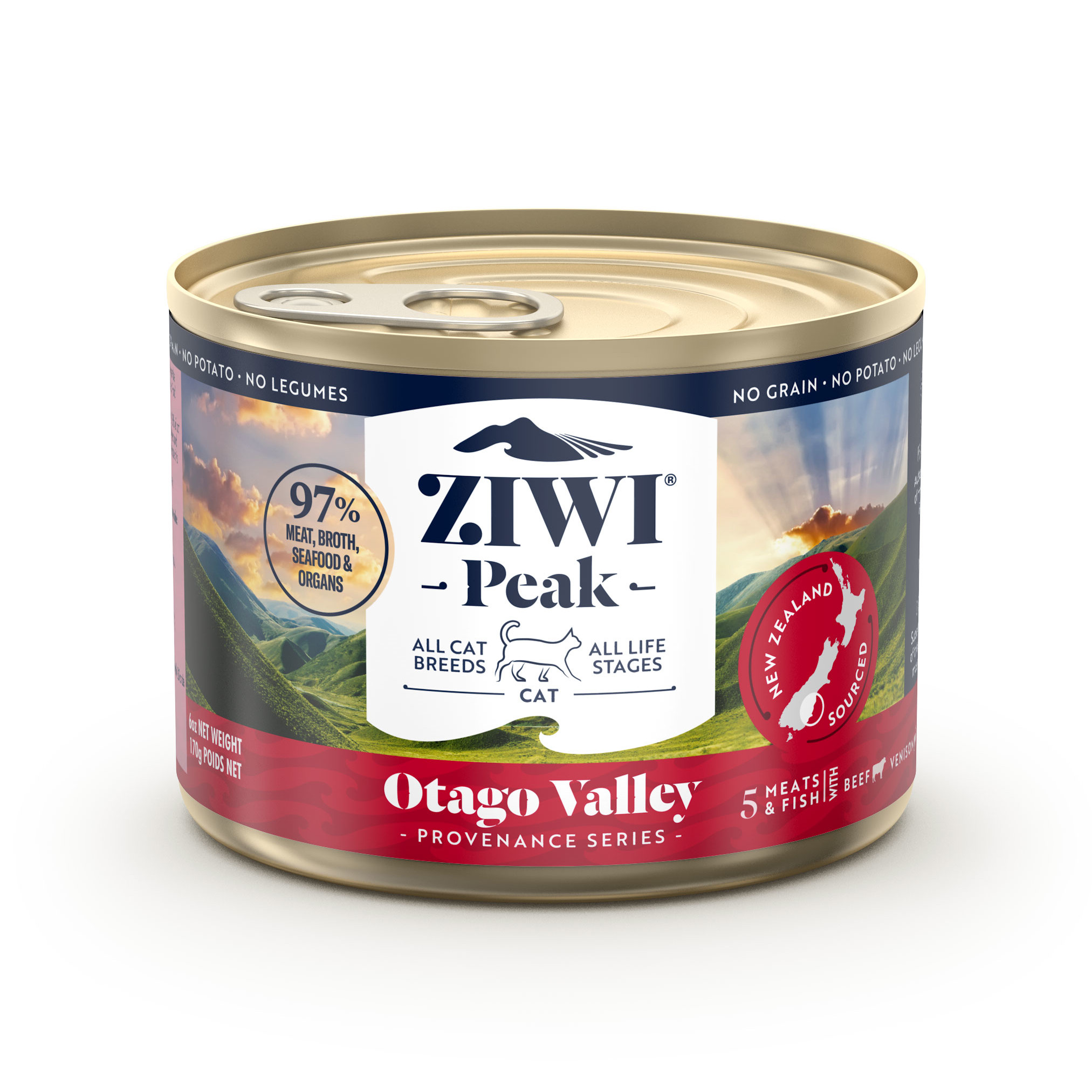 ZIWI Peak Provenance Canned Cat Food Otago Valley Recipe, 6-oz 170-g