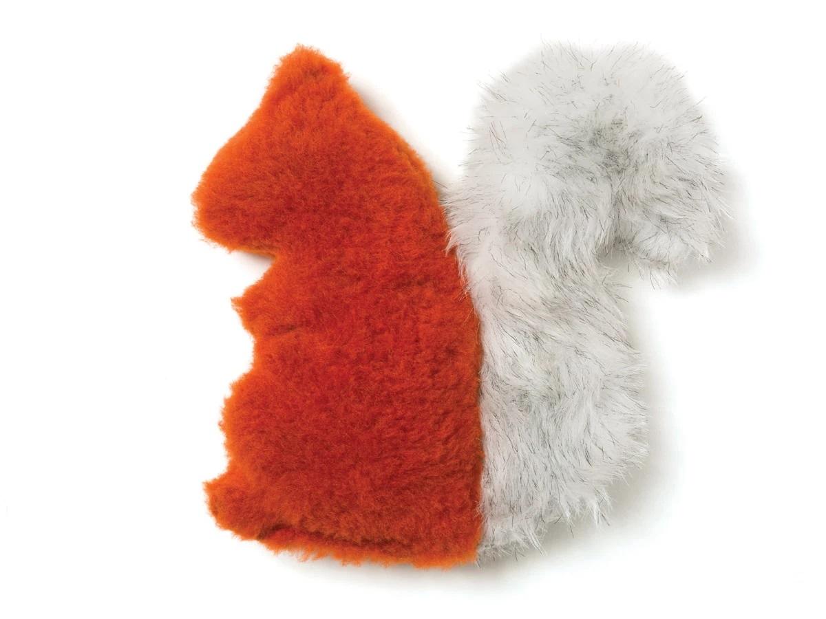 West Paw Sequoia Squirrel Plush Dog Toy, Pumpkin
