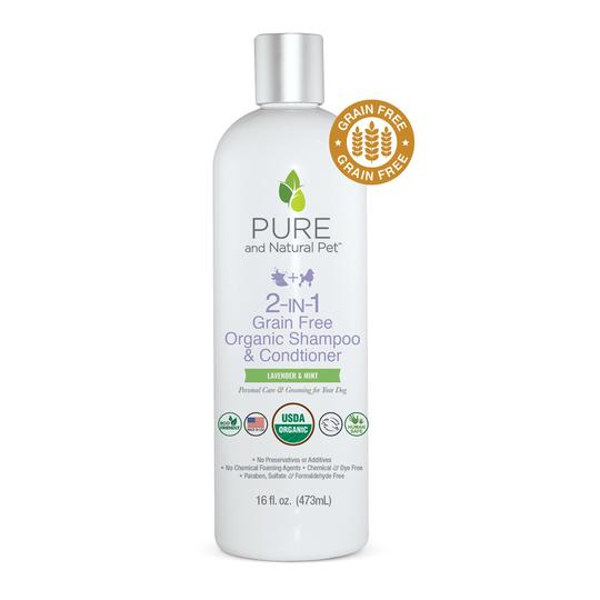 Pure and Natural Pet 2-in-1 Organic Dog Shampoo & Conditioner, 16-oz