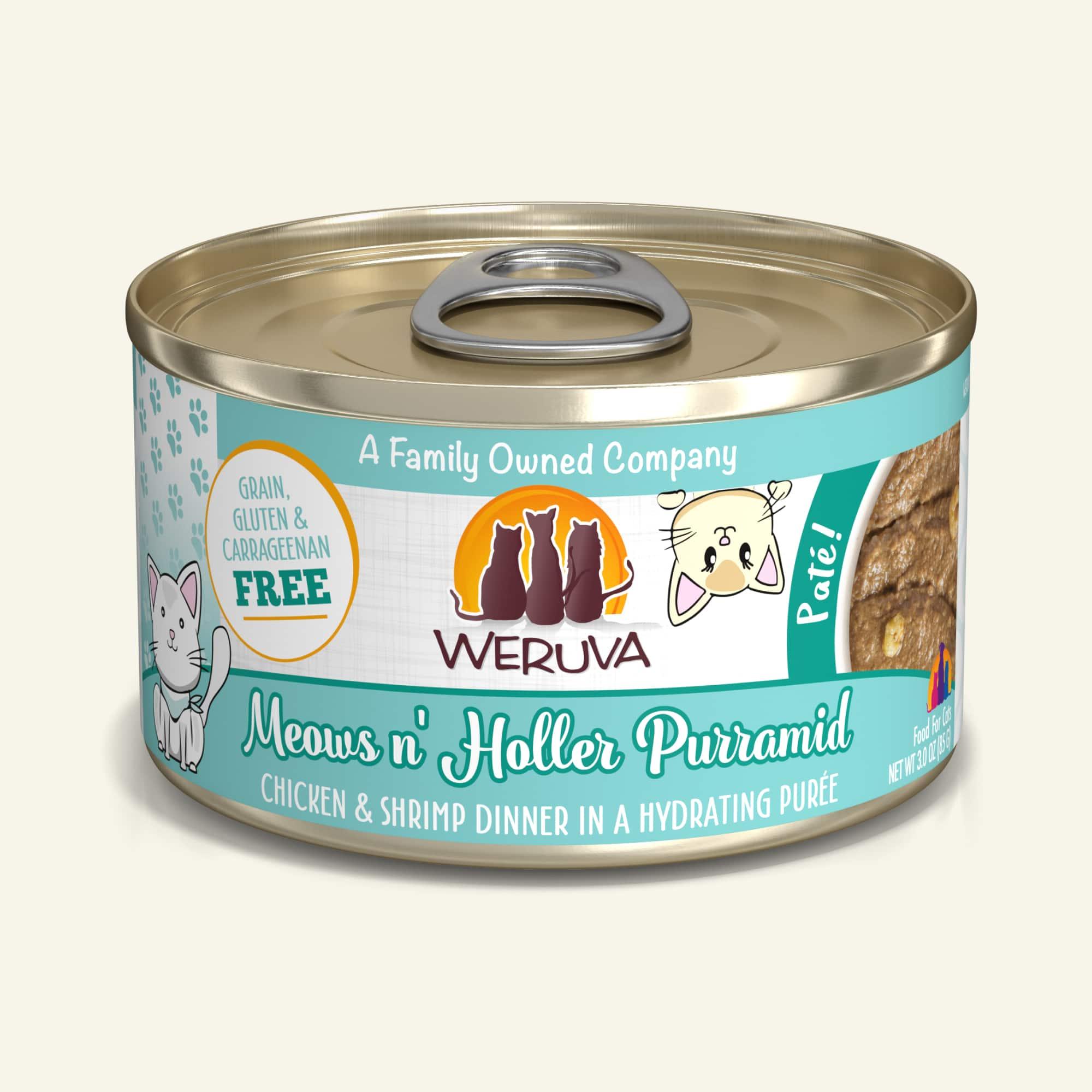 Weruva Cat Pate Meows n' Holler PurrAmid Chicken & Shrimp Dinner in Puree Wet Cat Food Image