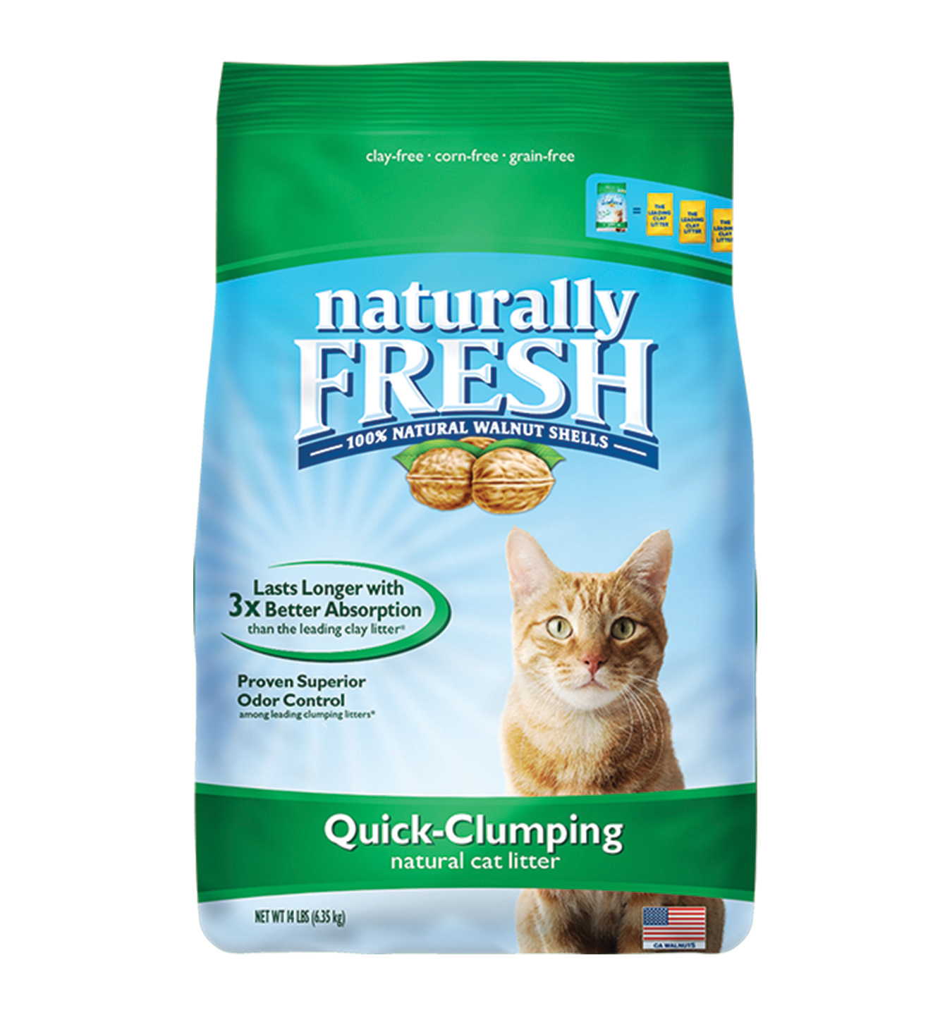 Naturally Fresh Walnut-Based Quick-Clumping Cat Litter, 14-lb bag