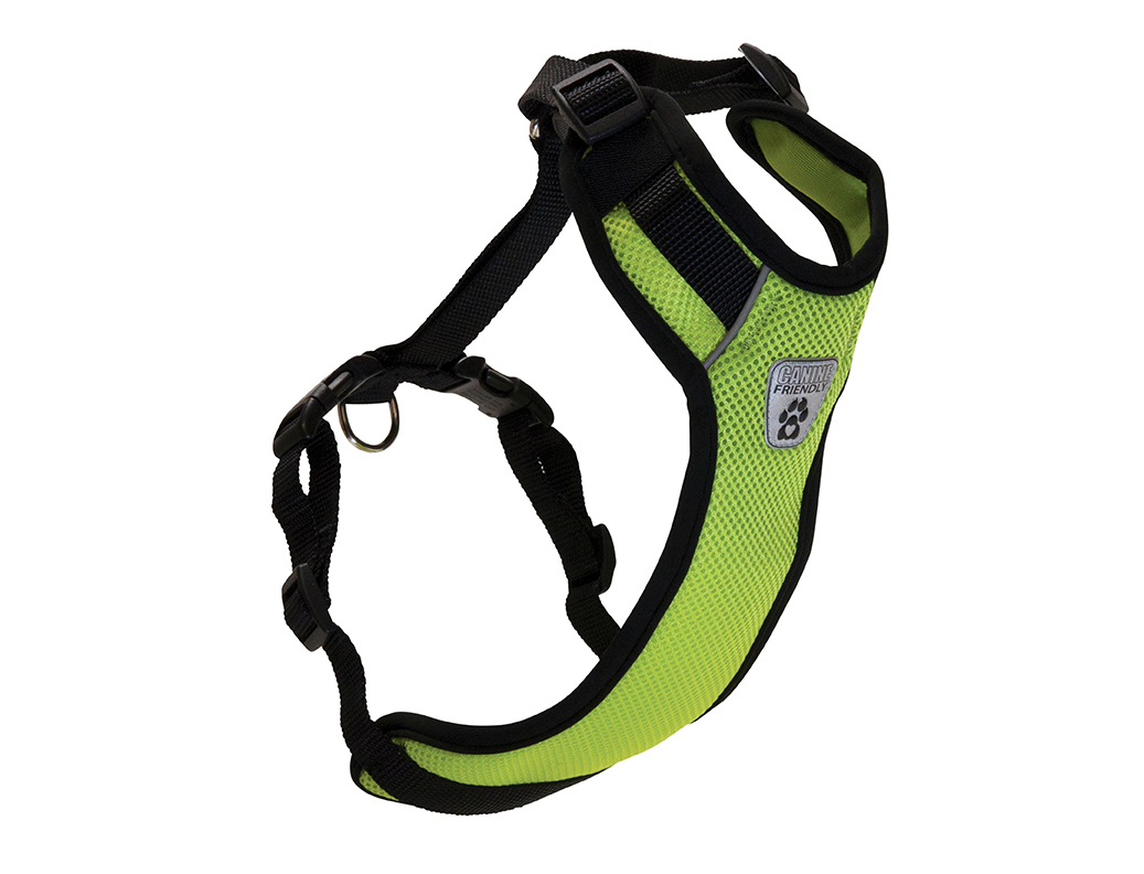RC Pet Products Canine Friendly Vented Vest 2.0 Dog Harnesss, Lime, XX-Small