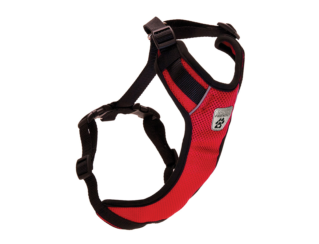 RC Pet Products Canine Friendly Vented Vest 2.0 Dog Harnesss, Red, Small