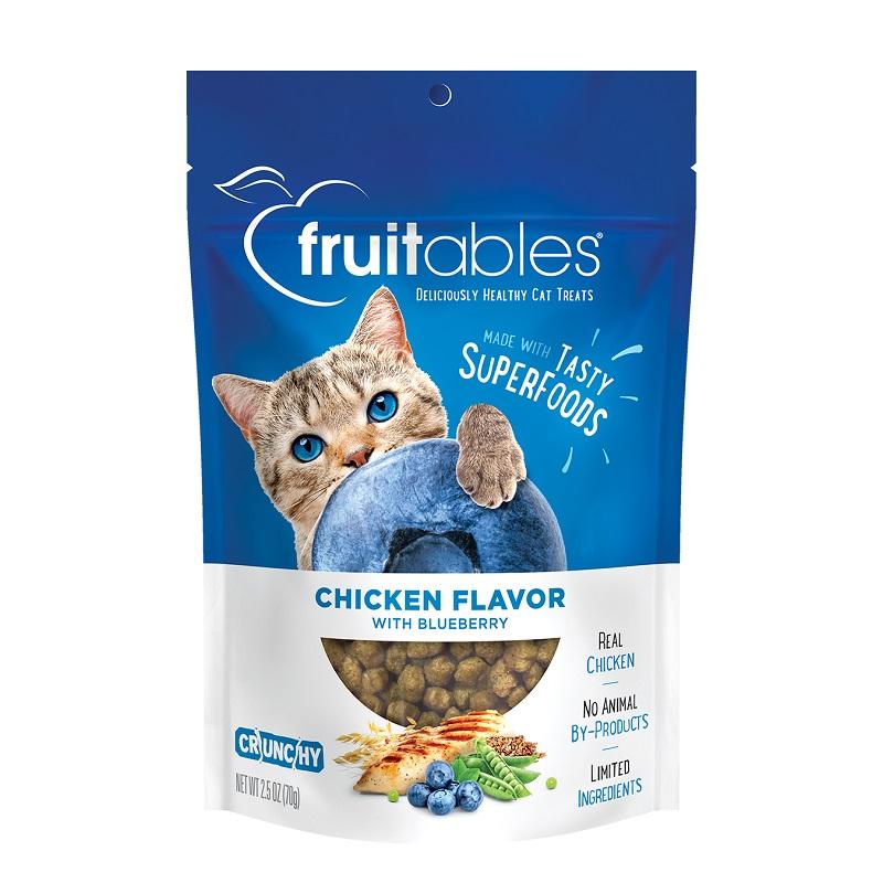 Fruitables Chicken & Blueberry Crunchy Cat Treats Image