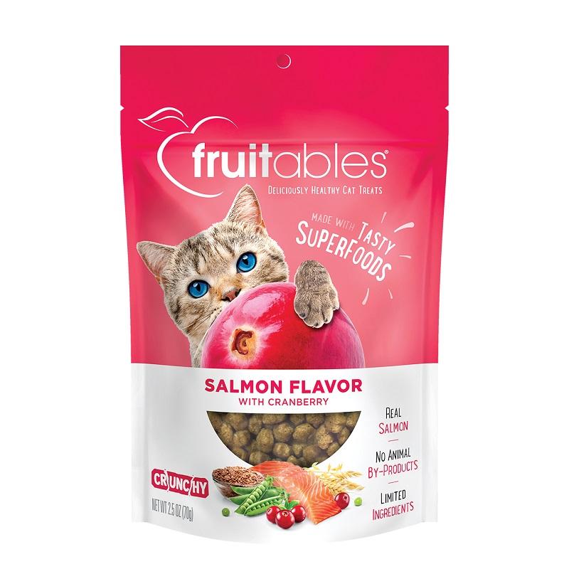 Fruitables Salmon & Cranberry Crunchy Cat Treats Image