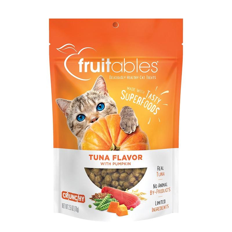 Fruitables Tuna & Pumpkin Crunchy Cat Treats Image