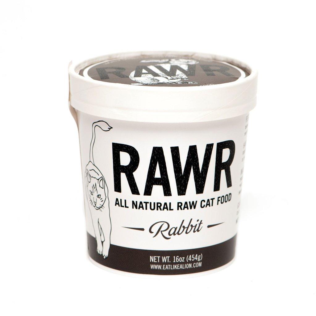 RAWR All Natural Rabbit Raw Frozen Cat Food, 16-oz