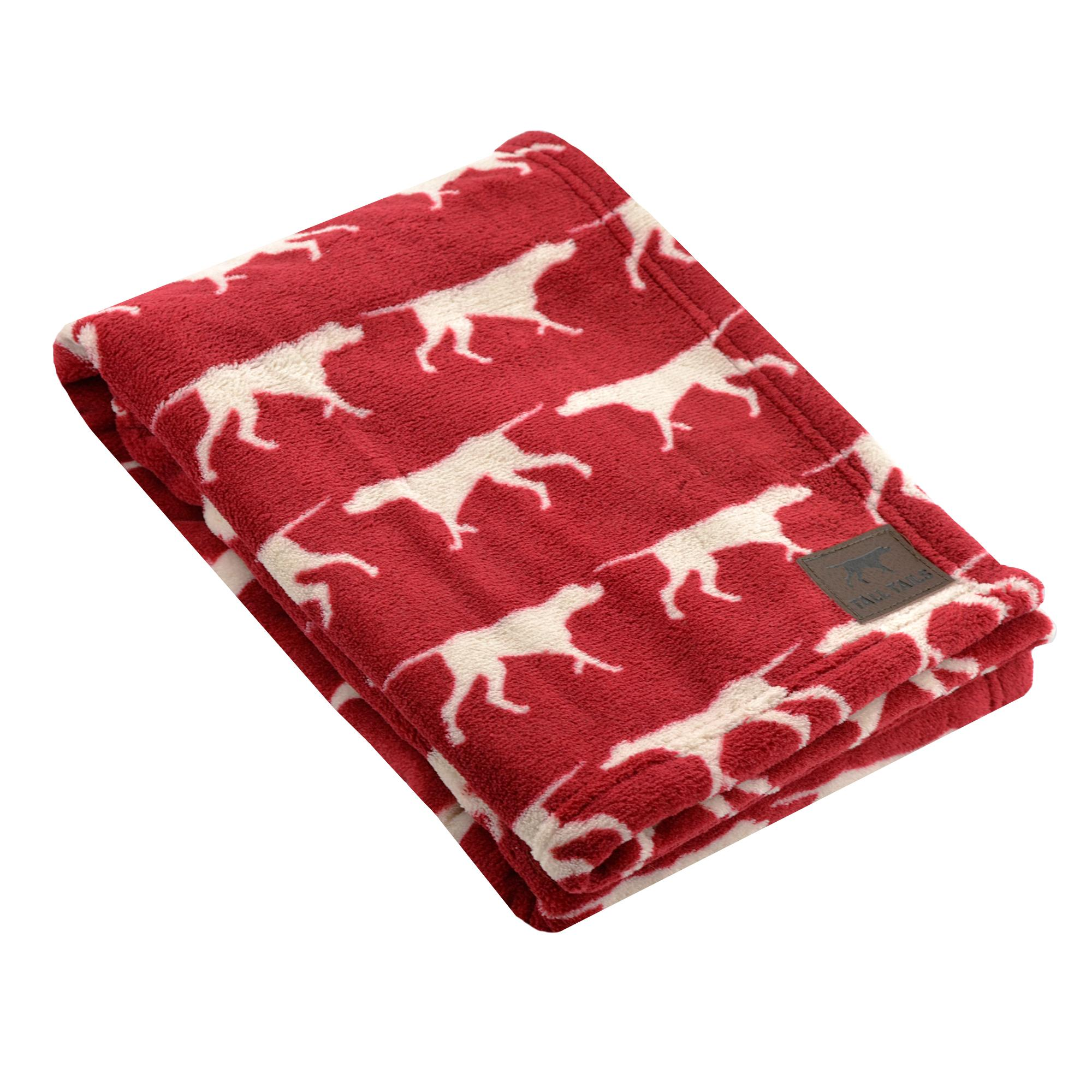 Tall Tails Red Icon Fleece Dog Blanket Image