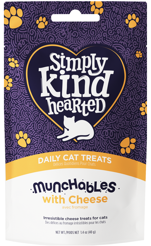 Simply Kind Hearted Cat Munchables With Cheese, 1.4-oz