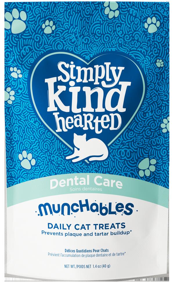 Simply Kind Hearted Cat Munchables, Dental Care, 1.4-oz