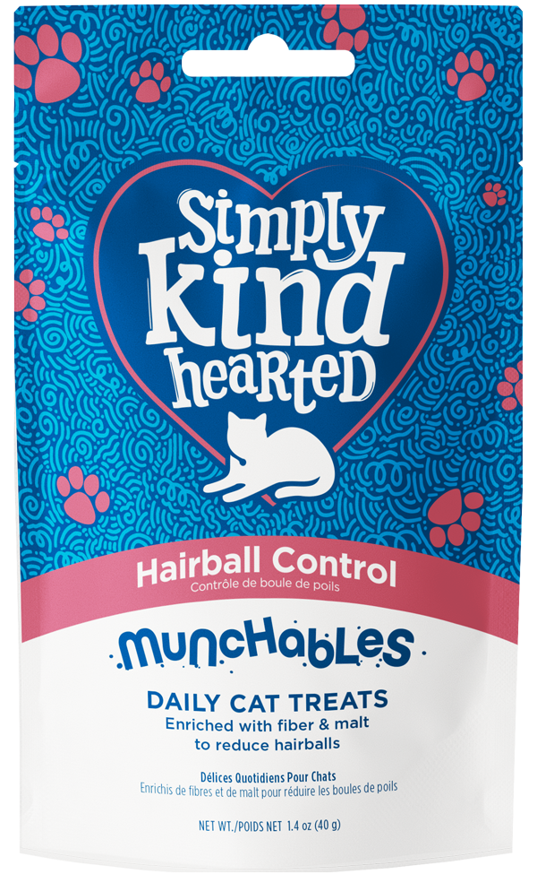 Simply Kind Hearted Cat Munchables, Hairball Control, 1.4-oz