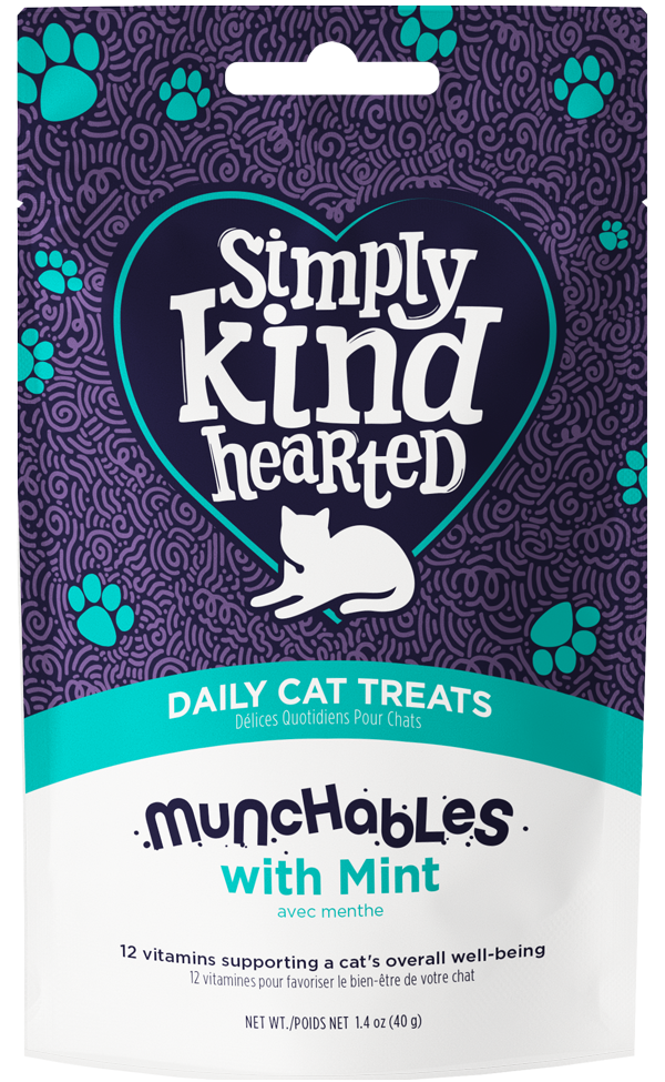 Simply Kind Hearted Cat Munchables With Mint, 1.4-oz