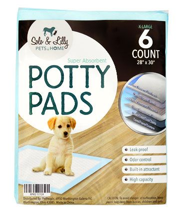 Solo & Lilly Pets at Home Dog Potty Pads, 28-in x 30-in, 6-count