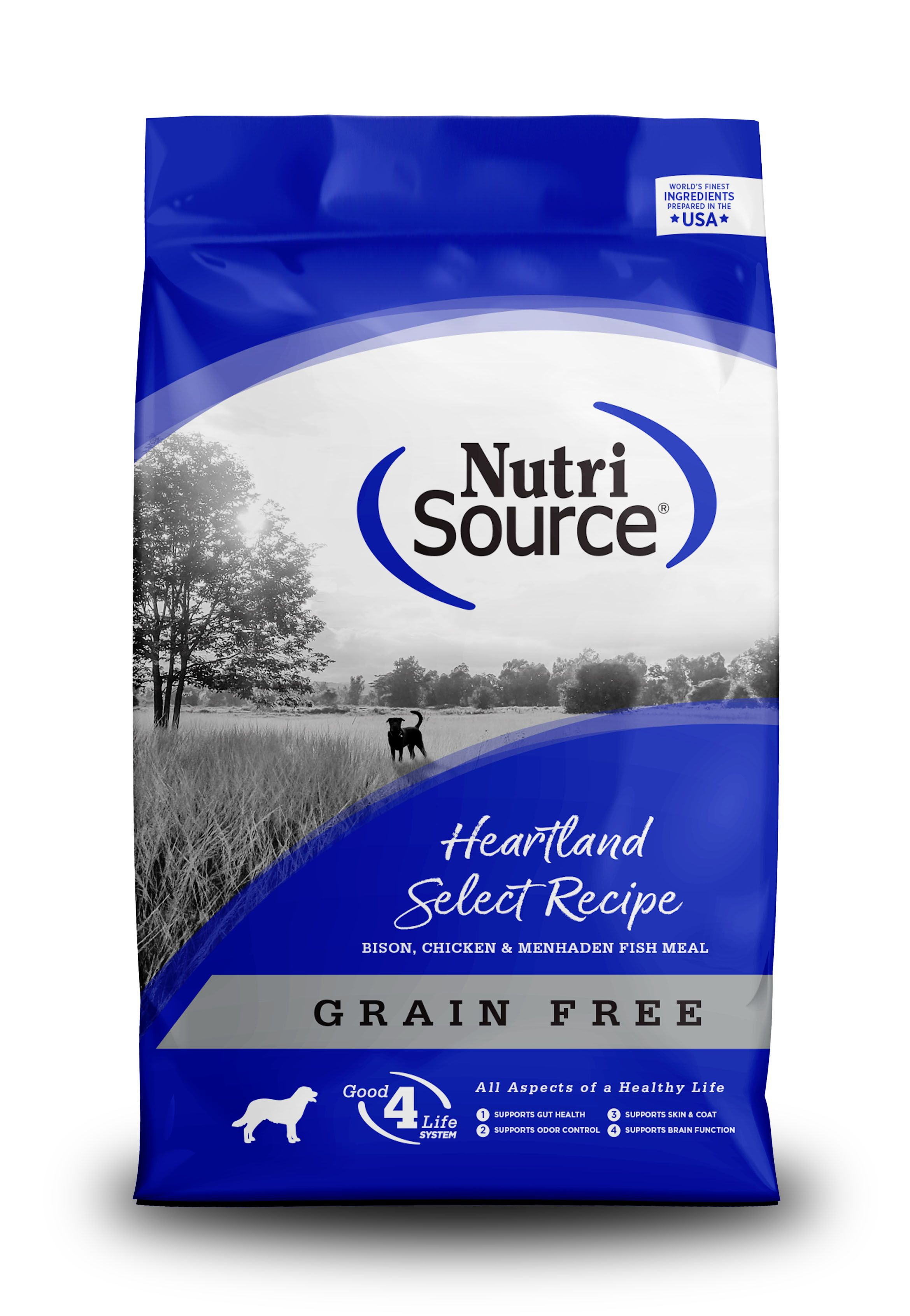 NutriSource Grain Free Heartland Select with Bison Dry Dog Food, 30-lb