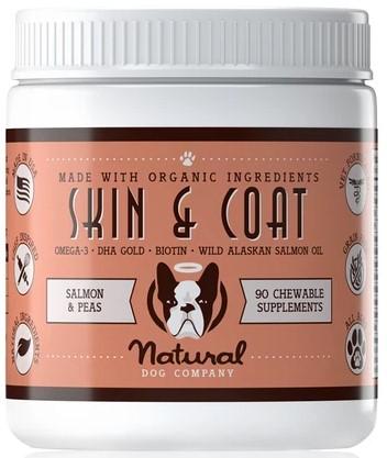 Natural Dog Company Skin & Coat Dog Supplement, 90-count