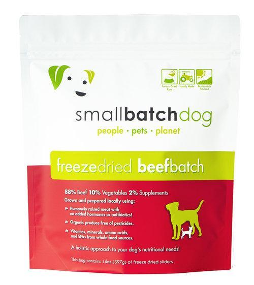 Small Batch Dog Beef Batch Sliders Freeze-Dried Dog Food, 25-oz