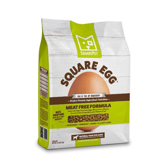 SquarePet Square Egg Meat Free Formula Dry Dog Food, 4.4-lb