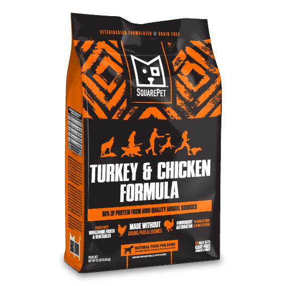 SquarePet Turkey & Chicken Dry Dog Food, 23-lb