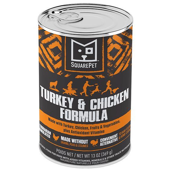 SquarePet Turkey & Chicken Canine Formula Wet Dog Food, 13-oz
