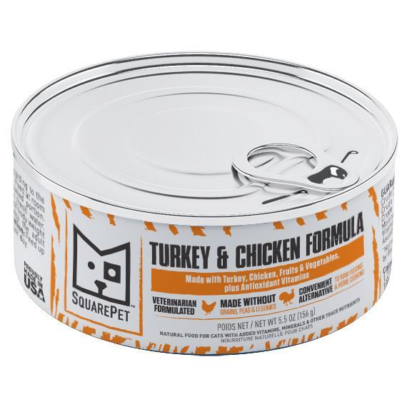 SquarePet Turkey & Chicken Formula Wet Cat Food, 5.5-oz