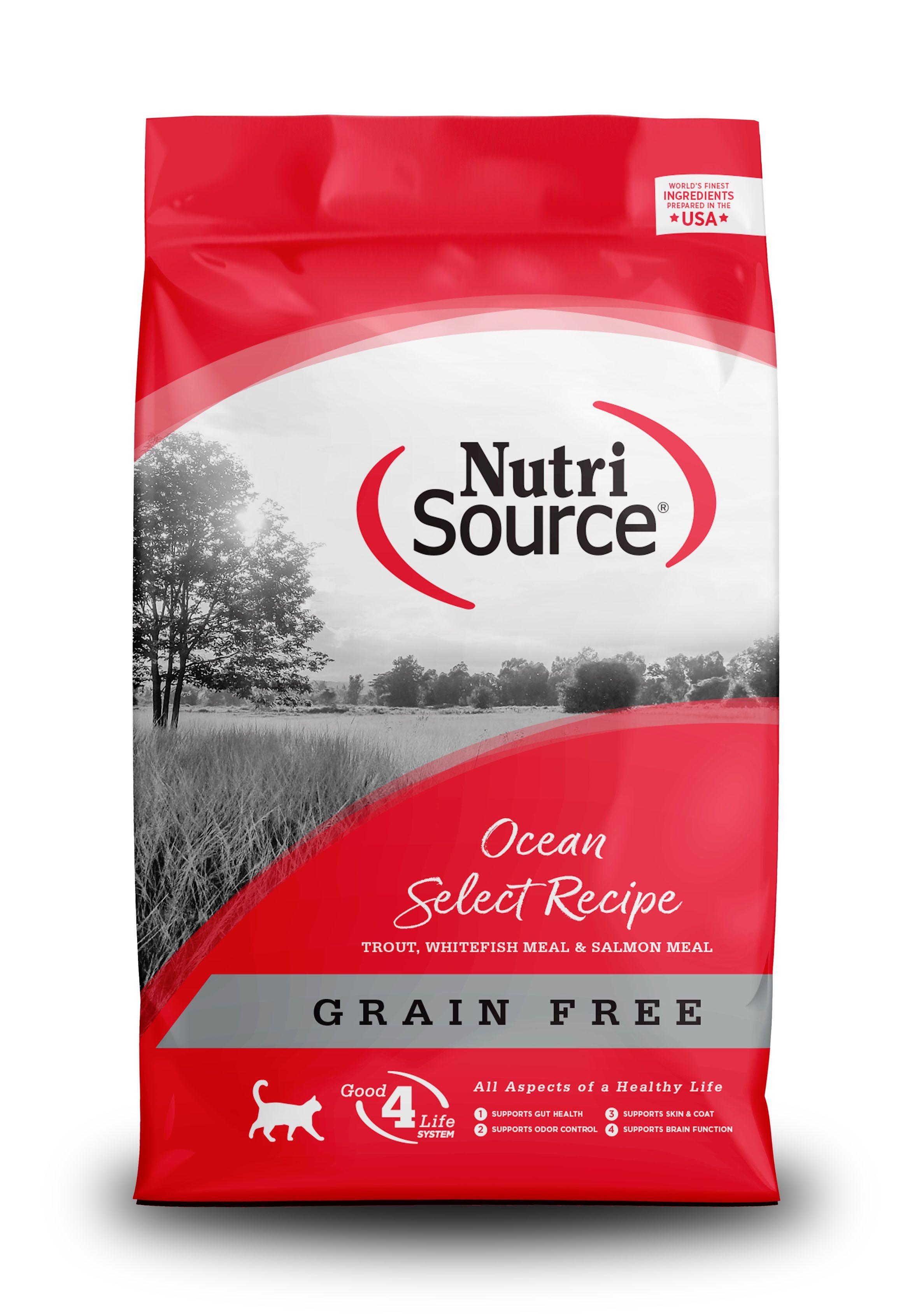 NutriSource Grain Free Ocean Select Entree Dry Cat Food, 15-lb