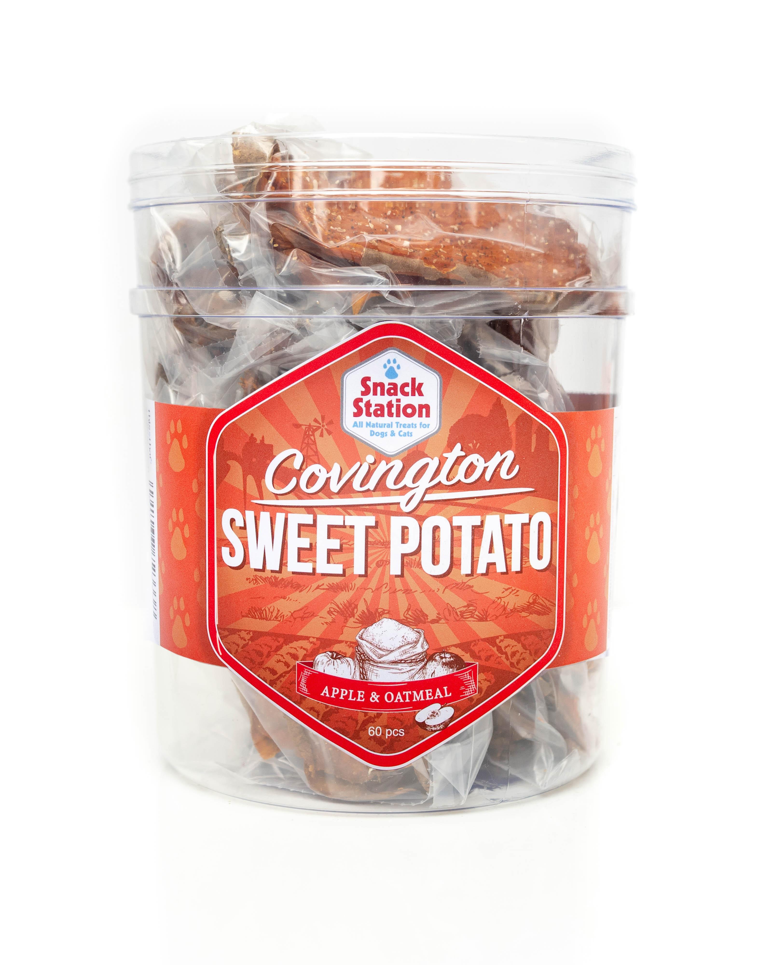 This & That Snack Station Sweet Potato Apple & Oatmeal Dog Treats, 3-pk