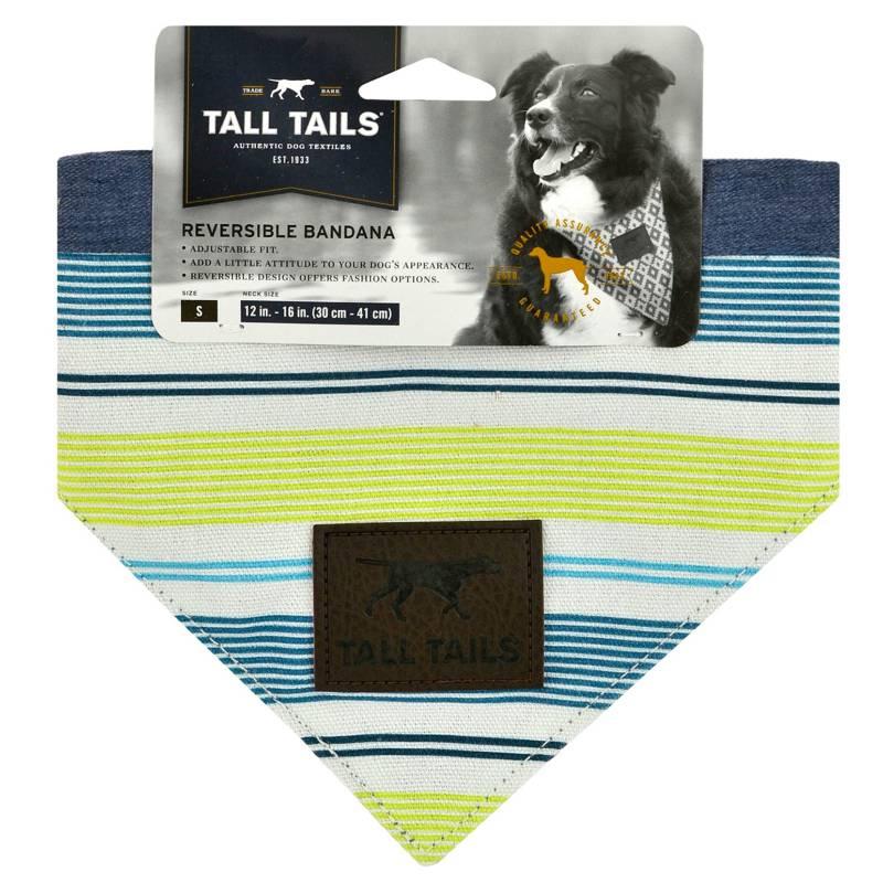 Tall Tails Reversible Dog Bandana, Spring, Medium/Large